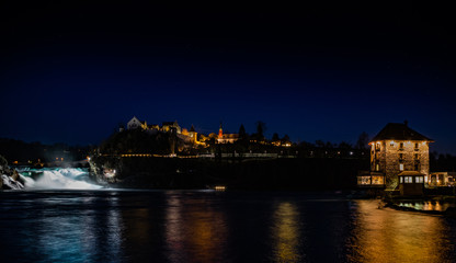 Rheinfall mit Schloss Laufen und Schlössli Wörth