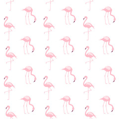 Canvas Prints Flamingo Cute Pink Flamingo Seamless Repeat Pattern for Textile, Print or Web Design. Vector.