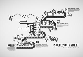 Progress City Street Infographic