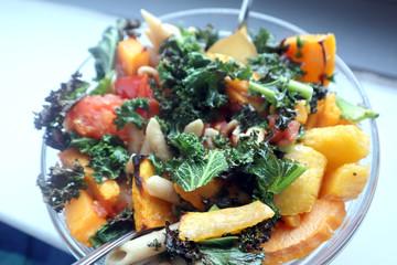 Sweet potato and butternut squash, vegan pasta