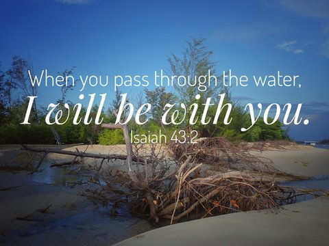 I will be with you from bible verse design for Christianity of the day, be encouraged.