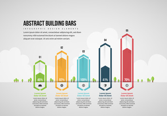 Abstract Building Bars Infographic