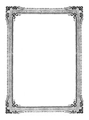 Vintage Vector Drawing or Engraving of Classic Antique Decorative Ornamental Frame Design