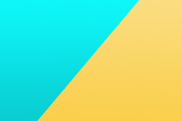 turquoise and yellow piece of paper in pastel colors