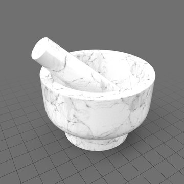 Kitchen mortar and pestle