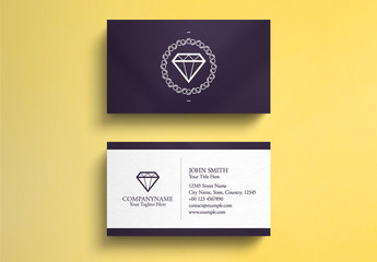 Jewelry Business Card Layout