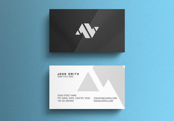 Black and White Corporate Business Card Layout