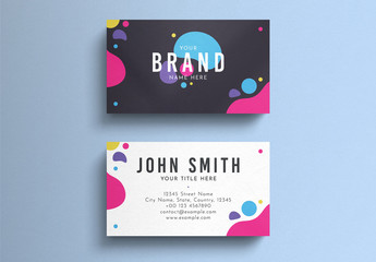 Colorful Minimal Business Card Layout