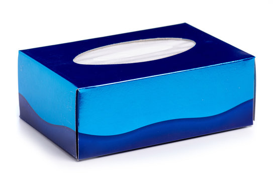 Box hygiene napkins on a white background isolation
