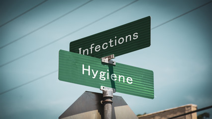 Street Sign Hygiene versus Infections