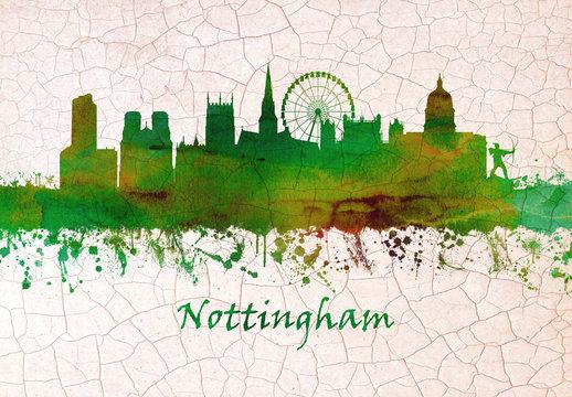 Nottingham England skyline