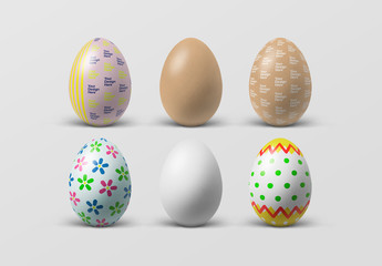 Decorated Easter Eggs Painting Mockup
