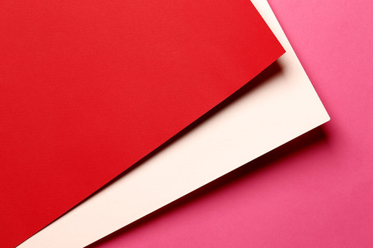 bright red abstract blank paper background