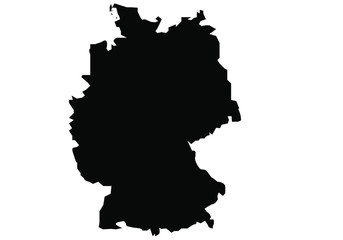 map of Germany black