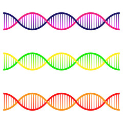 Icons set of DNA. The concept of polygonal DNA. DNA, genetic sign.