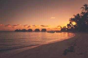 Island Resort Paradise during Sunset