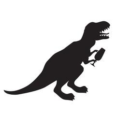 Party animal dinosaur silhouette image