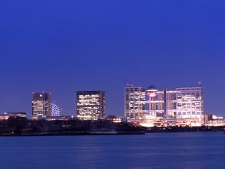 Fototapete - お台場の高層ビル街