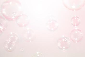 pink soap bubbles background
