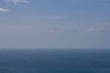 Acrylic Prints Nature border between sky and sea. from high.