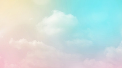 Abstract blurred beautiful soft cloud background with a pastel multicolored gradient with bokeh concept for wedding card design or presentation Fototapete
