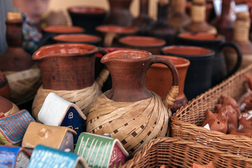 Ceramic jug at the fair