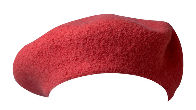 Beret isolated on white background. hat female beret