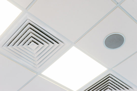Design and details of the modern device ceilings in the room.