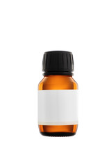 Aromatherapy essential oil serum bottle, isolated over white background. Facial cosmetics.