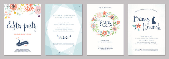 Happy Easter templates.