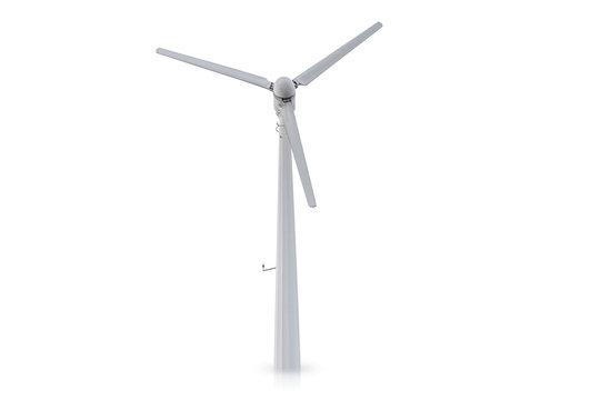 wind turbine isolated on white background.