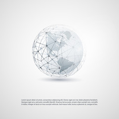Cloud Computing and Global Networks Concept Design with Earth Globe