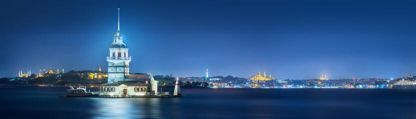Maiden Tower in Bosphorus strait Istanbul, Turkey