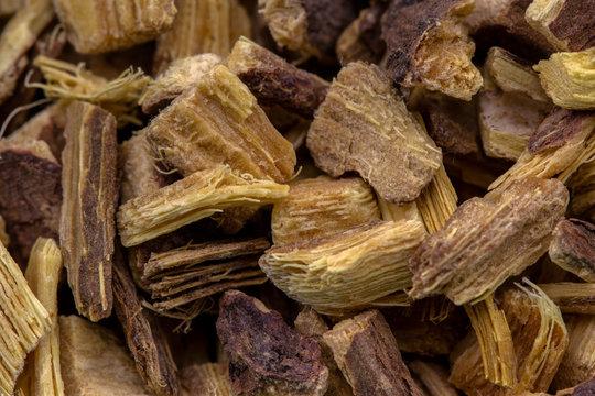 Süssholzwurzel Detail, Gesunde Heilkräuter Naturmedizin