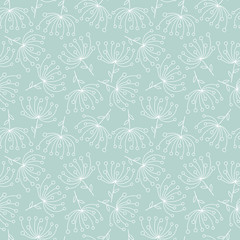 Fototapete - Seamless floral pattern in vector