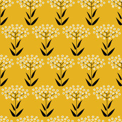 Fototapete - Background with floral pattern