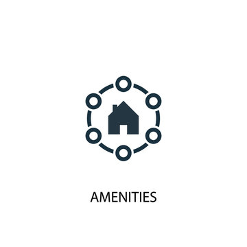 Amenities icon. Simple element illustration. Amenities concept symbol design. Can be used for web and mobile.