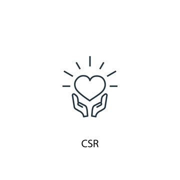 CSR concept line icon. Simple element illustration. CSR concept outline symbol design. Can be used for web and mobile UI/UX