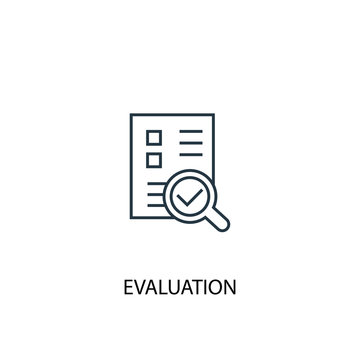 evaluation concept line icon. Simple element illustration. evaluation concept outline symbol design. Can be used for web and mobile UI/UX