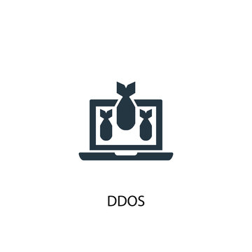DDOS icon. Simple element illustration. DDOS concept symbol design. Can be used for web and mobile.