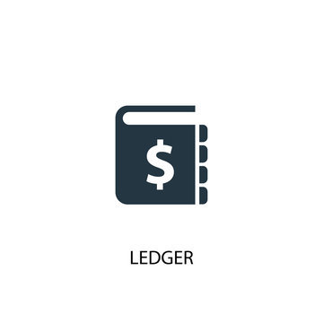 ledger icon. Simple element illustration. ledger concept symbol design. Can be used for web and mobile.