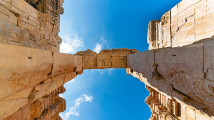 The Lintel of Temple of Bacchus in Baalbek, Lebanon