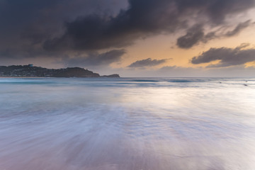 Low Clouds and Sunrise at the Seaside