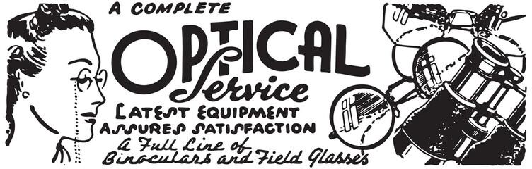 Optical Service - Retro Ad Art Banner