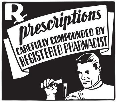 Prescriptions 2 - Retro Ad Art Banner