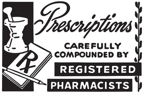 Prescriptions 3 - Retro Ad Art Banner