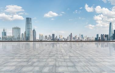 Obraz city skyline and square ground - fototapety do salonu