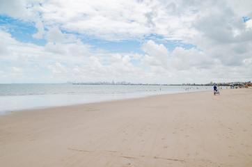 Ponta de Campina beach. Cabedelo PB Brazil. Northeastern Brazilian beach.