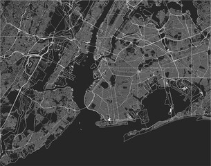 map of the New York City, NY, USA