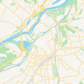 Metz, France printable map